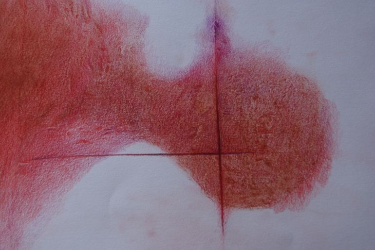 Red - crayon on paper 2013